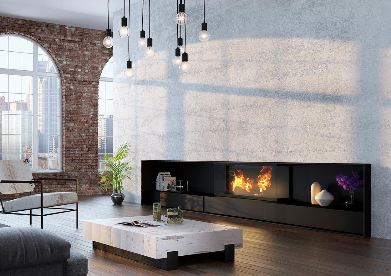 Chimenea Moderna Modelo Baltimore Chimeneas Magma - Imagenes-de-chimeneas-modernas