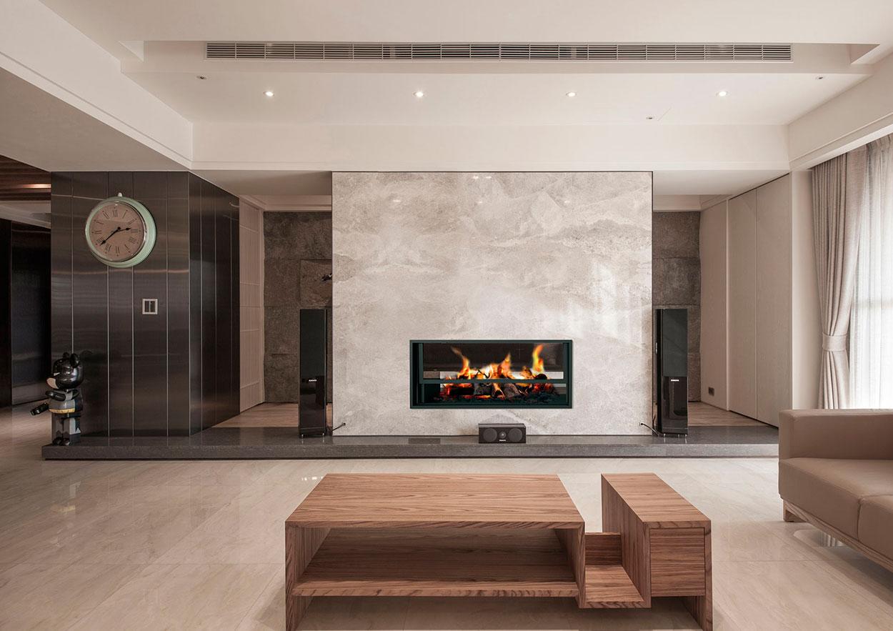 belfort hogar separador de espacios chimenea moderna - Chimenea Moderna