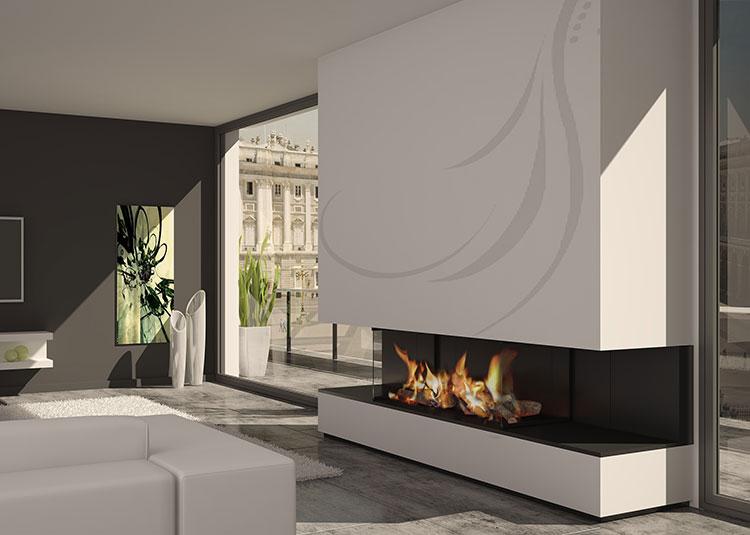 Galer a de chimeneas modernas magma dise o chimeneas - Chimeneas de pared modernas ...